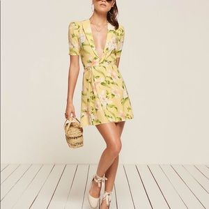 """Reformation """"Calais"""" dress in yellow"""